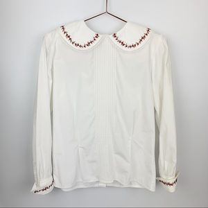 Vintage Charter Club Cotton Embroidered Top